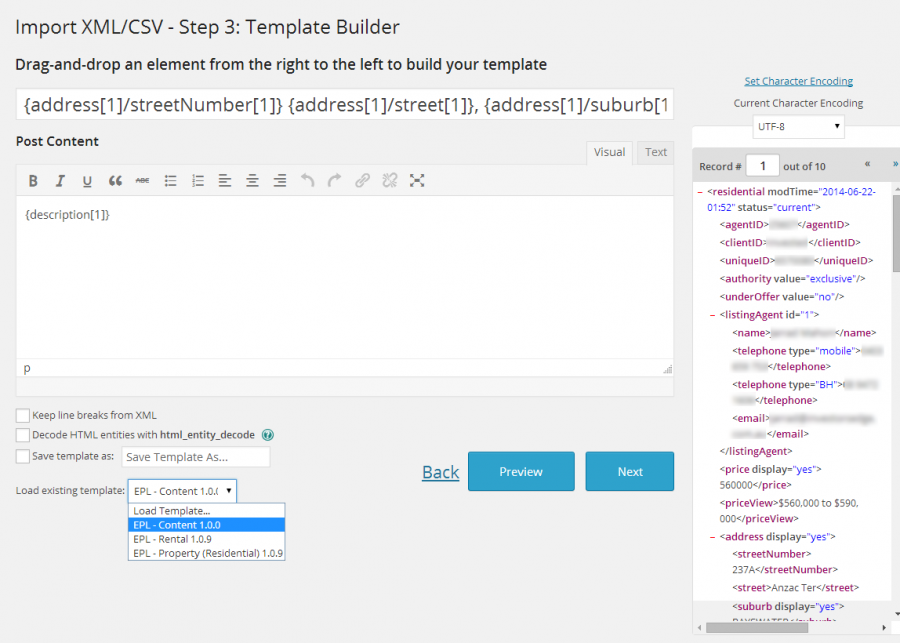 Template Builder WP All Import